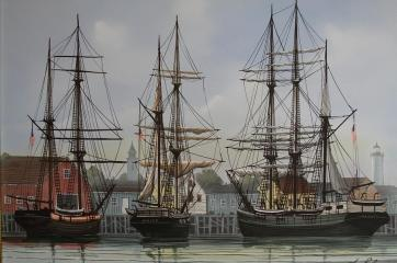 ships-in-harbor-george-e-lee